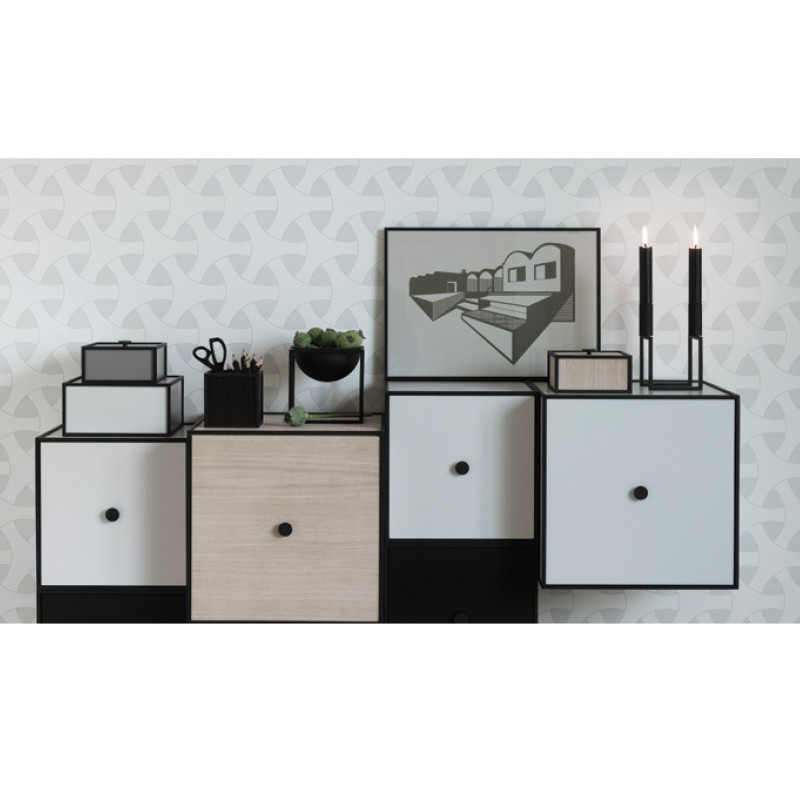 by lassen frame reol light grey mogens lassen frame bokse. Black Bedroom Furniture Sets. Home Design Ideas