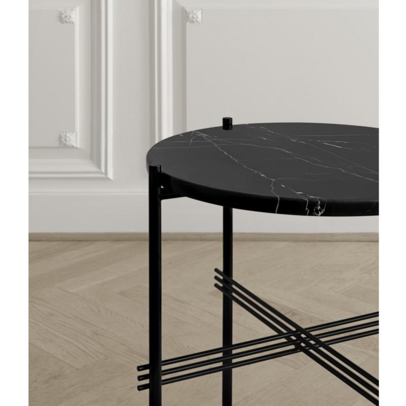 Gubi Gamfratesi TS Lounge Table Marmor Sort-Sort Stor
