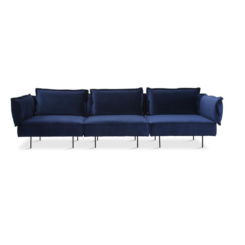 Handvärk 3 Personer Sofa Royal Blå