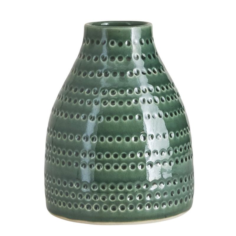 house doctor vase circles smaragdgr n. Black Bedroom Furniture Sets. Home Design Ideas