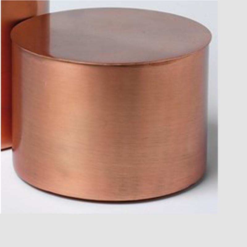 H. Skjalm P. Cylinder krukke med låg i kobber - H. Skjalm P.