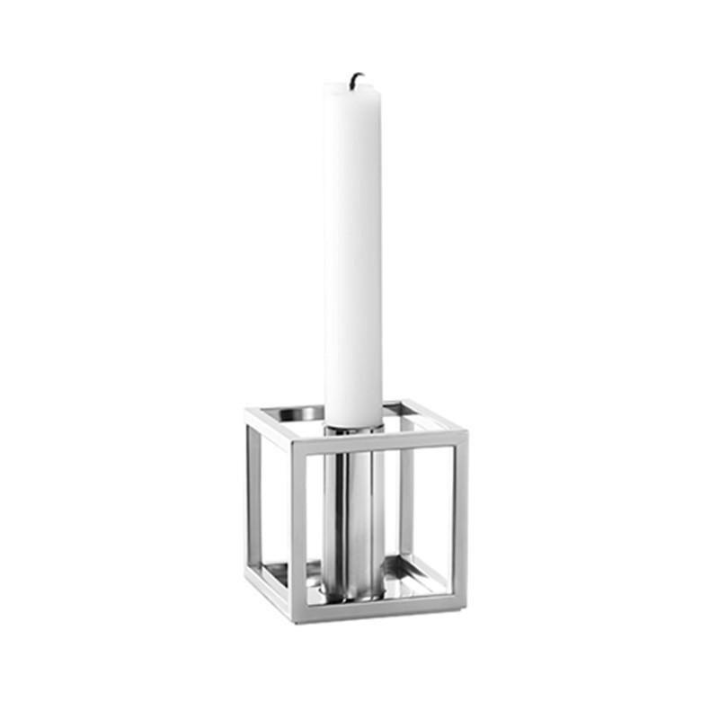 kubus 1 nikkel k b de ikoniske kubus lysestager her. Black Bedroom Furniture Sets. Home Design Ideas