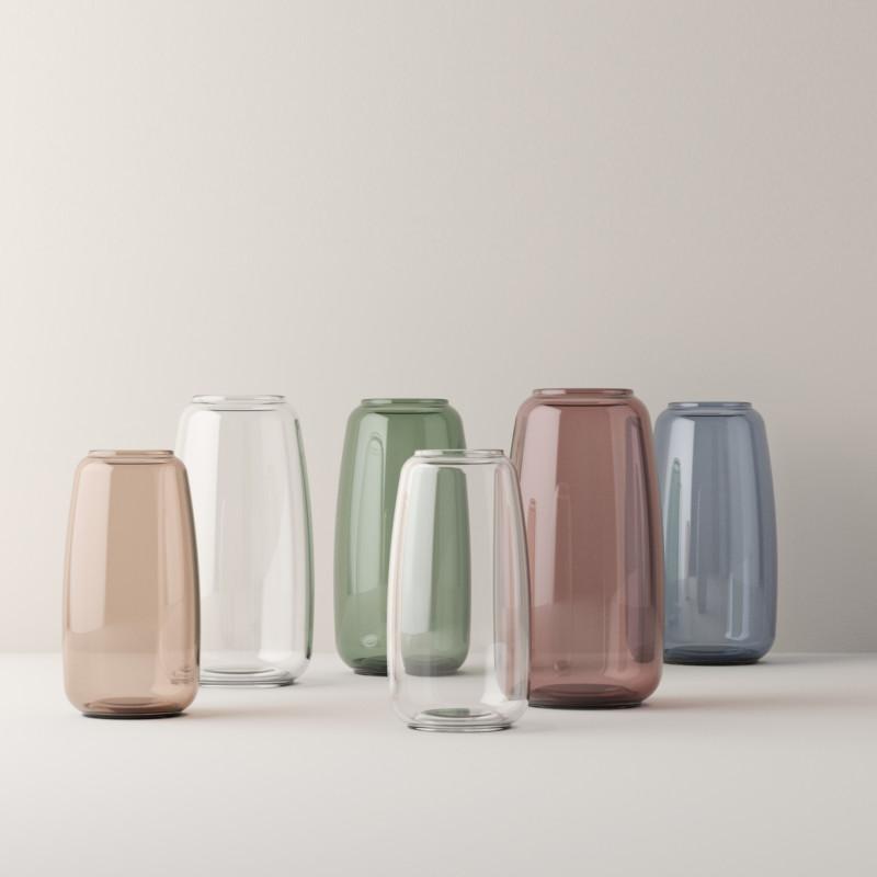 smukke form vaser i glas fra lyngby porcel n form 140 vase i klar glas. Black Bedroom Furniture Sets. Home Design Ideas