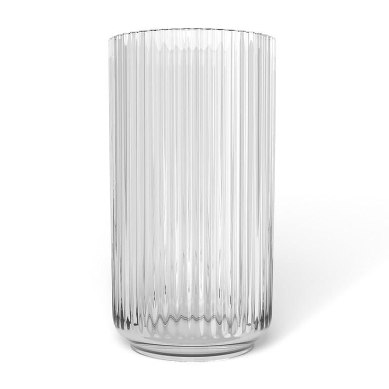 original lyngby vase i klar glas lyngby vase fra lyngby porcel nsfarbrik. Black Bedroom Furniture Sets. Home Design Ideas