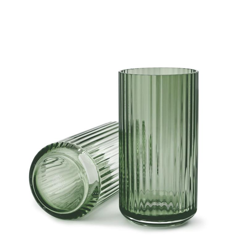 lyngby vase i glas copenhagen green. Black Bedroom Furniture Sets. Home Design Ideas