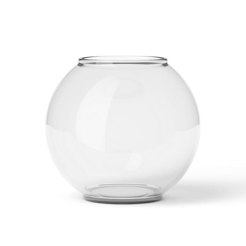 smuk rund vase form 70 2 i klar glas fra lyngby porcel n. Black Bedroom Furniture Sets. Home Design Ideas