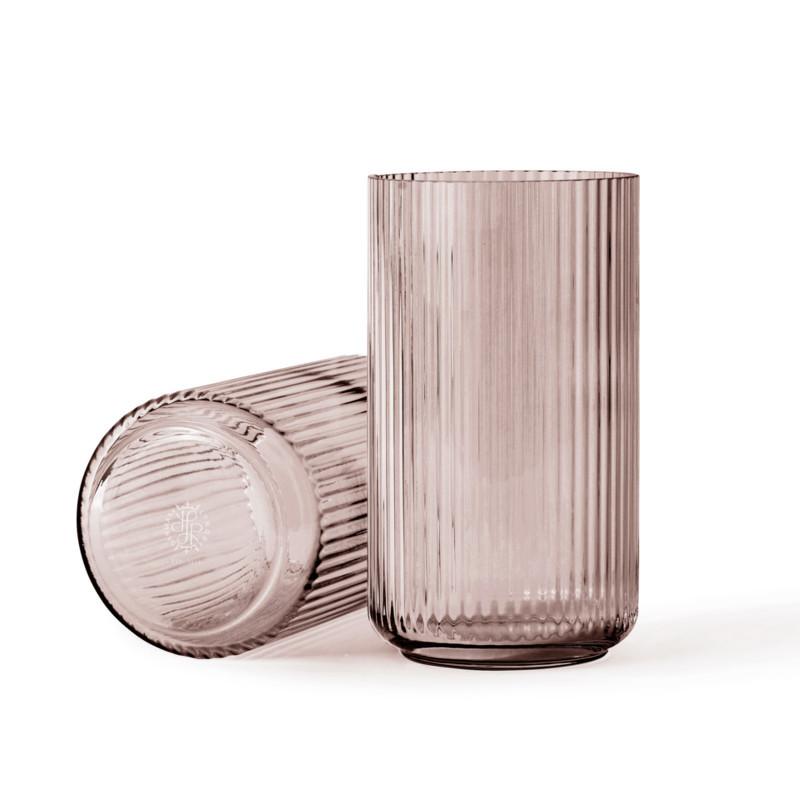 smukke lyngby glas vaser i farven burgundy. Black Bedroom Furniture Sets. Home Design Ideas