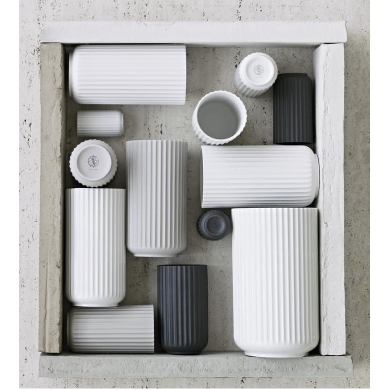 Lyngby Vase Mat Hvid - Klassisk Lyngby vase fra Porcelænsfabrikken