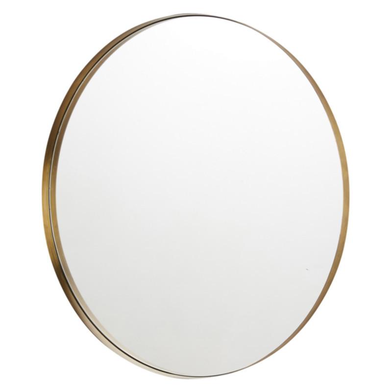 spejl messing Mojoo Spejl Stardust Ø60 Messing   Dekorativt spejl til dine vægge spejl messing