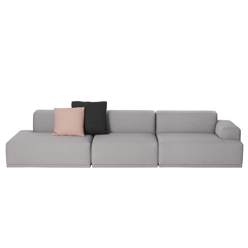 Muuto Connect Modul Sofa 3. personer openend (Steelcut Trio 133)