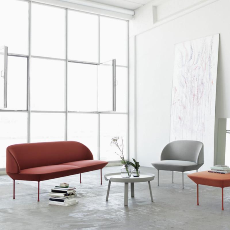 Let og moderne designer sofa oslo sofa fra muuto i steelcut 180