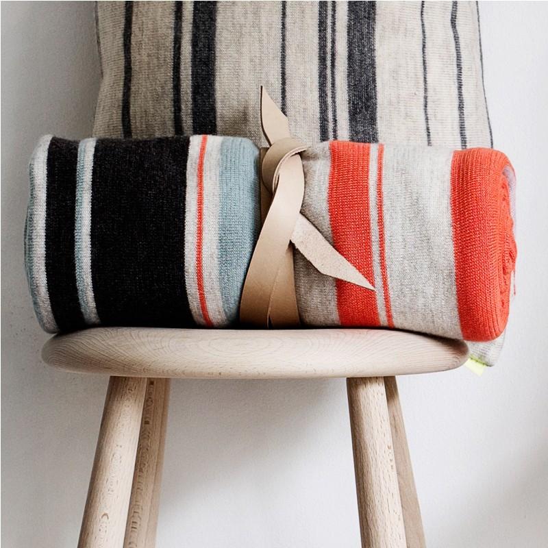 multifarvet plaid fra oyoy uld plaid fra oyoy living design. Black Bedroom Furniture Sets. Home Design Ideas