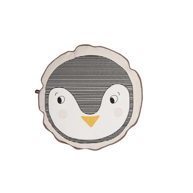 OYOY Rund Pude Pingvin