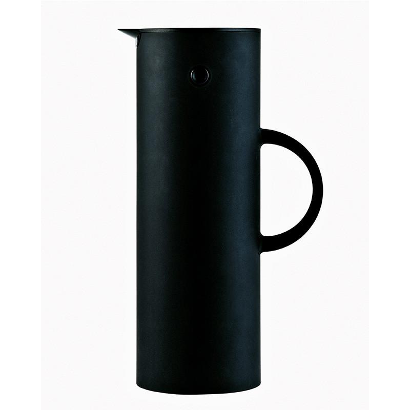 stelton em77 termokande 1 l soft sort termokander fra. Black Bedroom Furniture Sets. Home Design Ideas