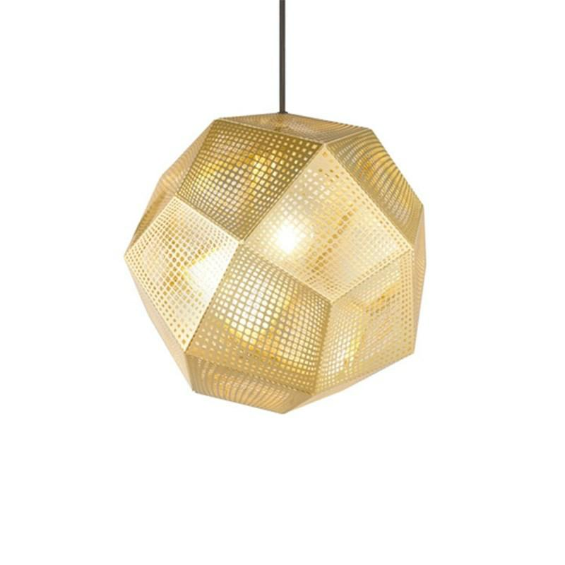 Pris DKK 390000 Tom Dixon Etch Shade Pendel Messing