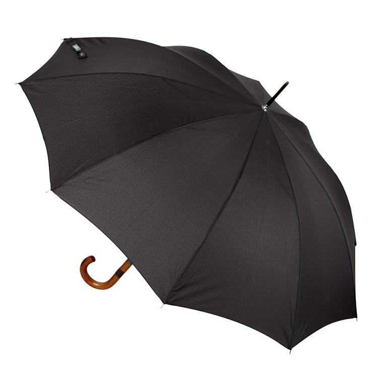 Happy Rain lang paraply med trægreb
