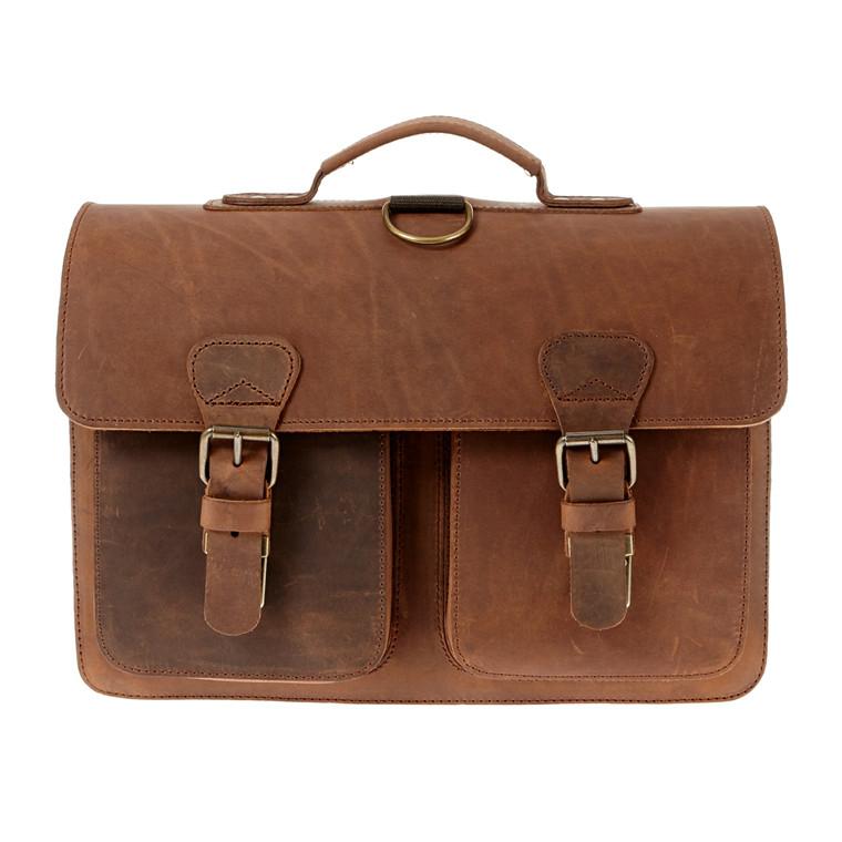 Ruitertassen mappe/rygsæk i støvlelæder