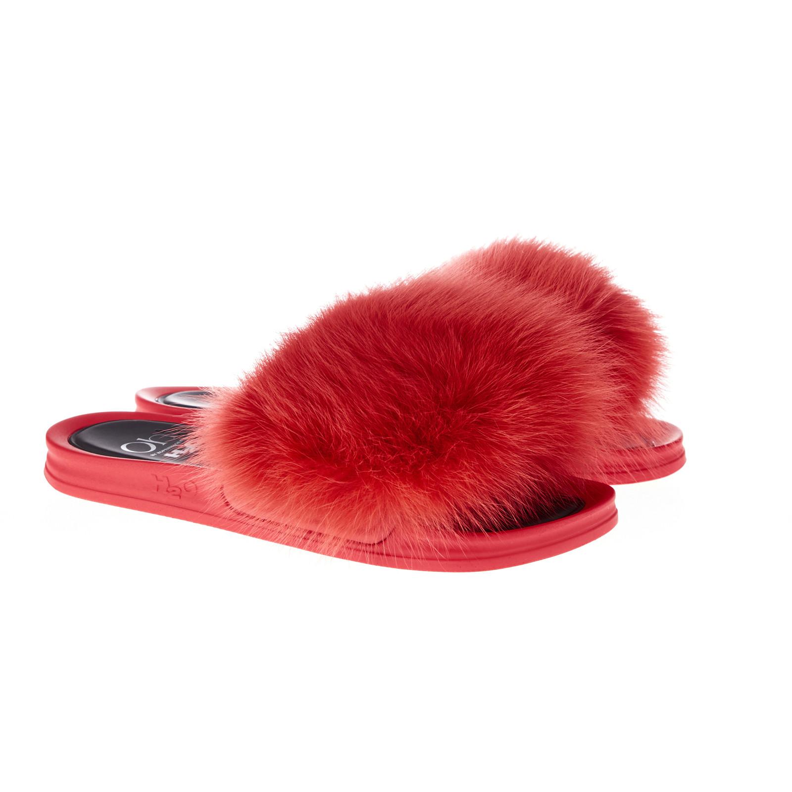 Oh! By Kopenhagen Fur Foxy Fox slippers m/ræv