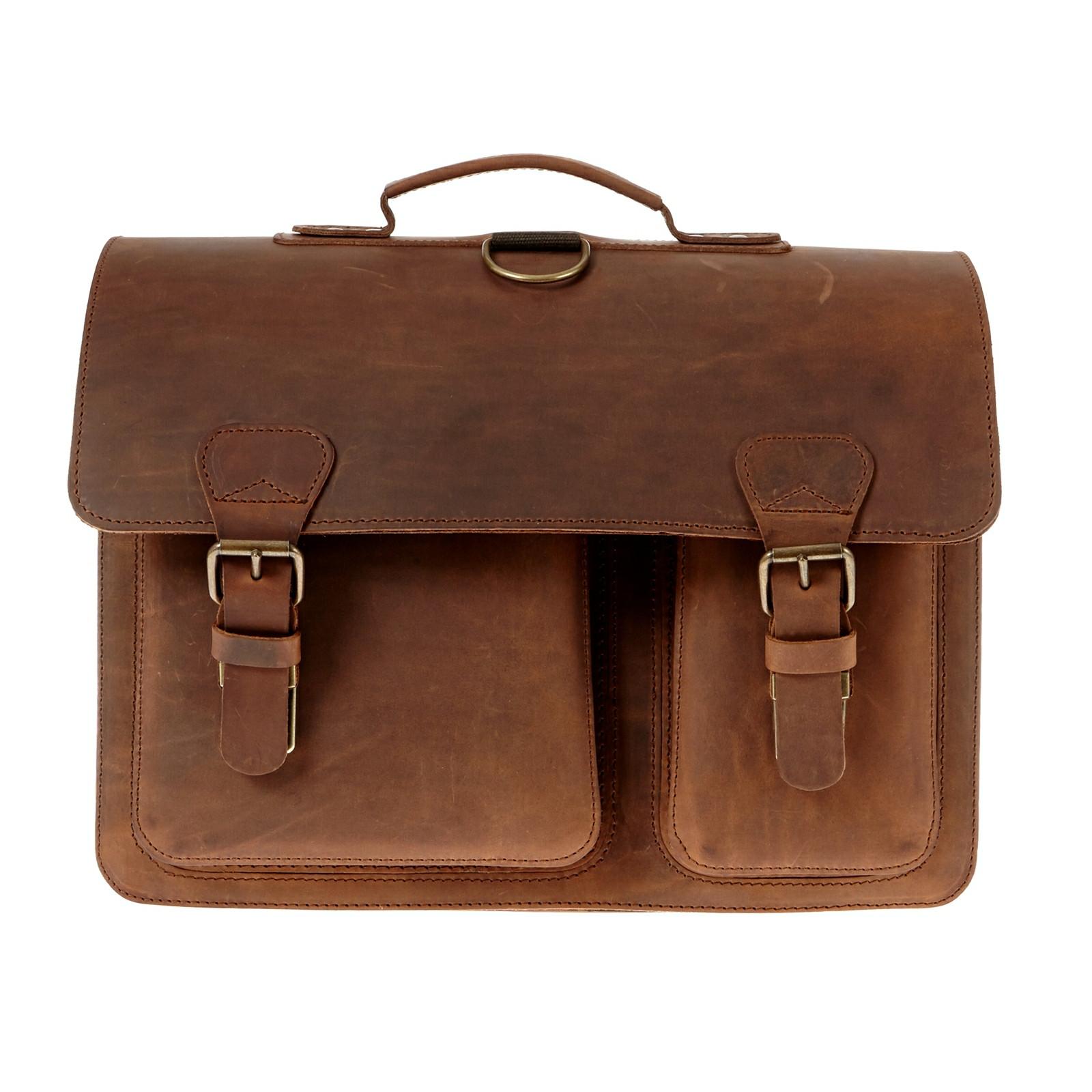 Ruitertassen skoletaske/rygsæk i kernelæder