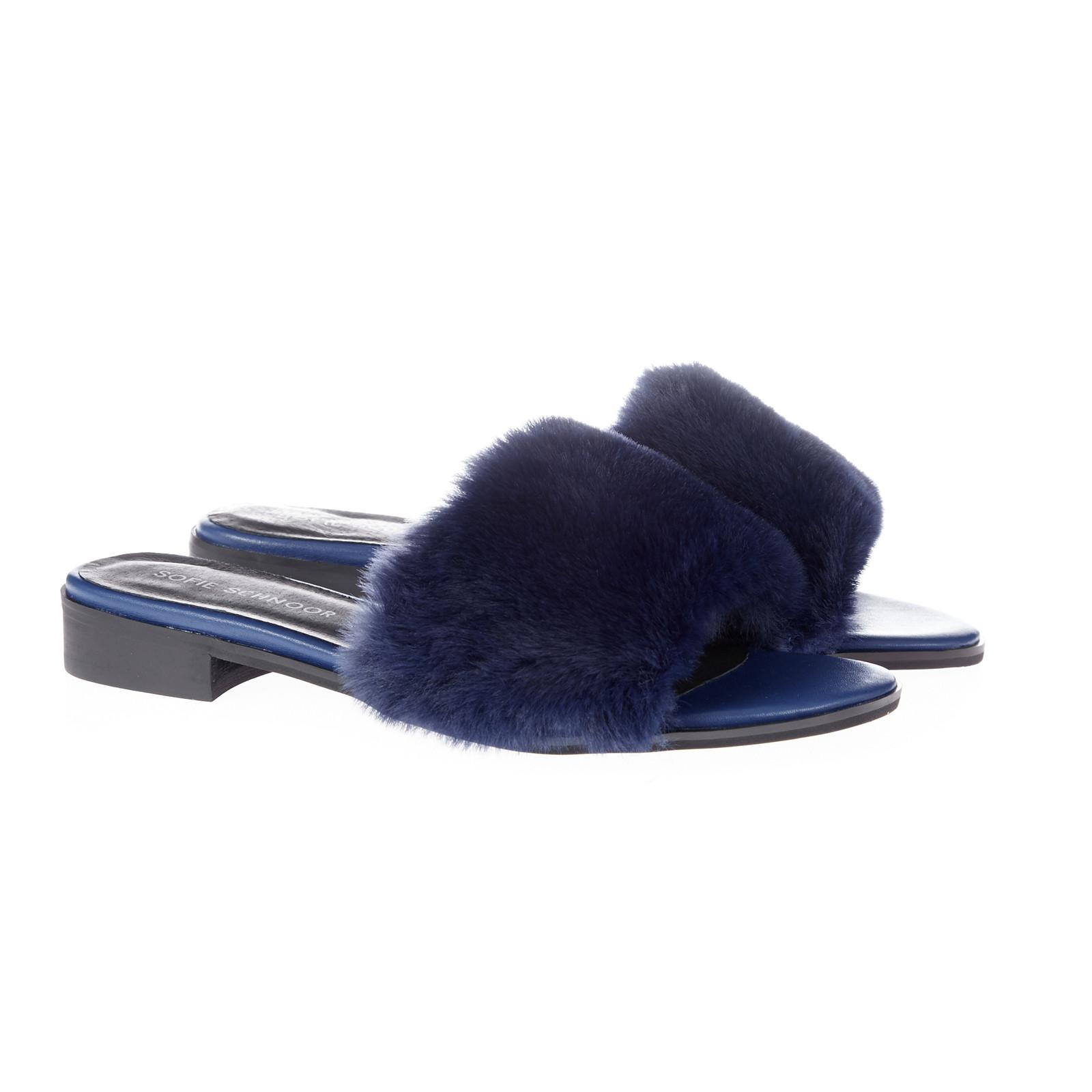 Sofie Schnoor pels sandal m/lille hæl
