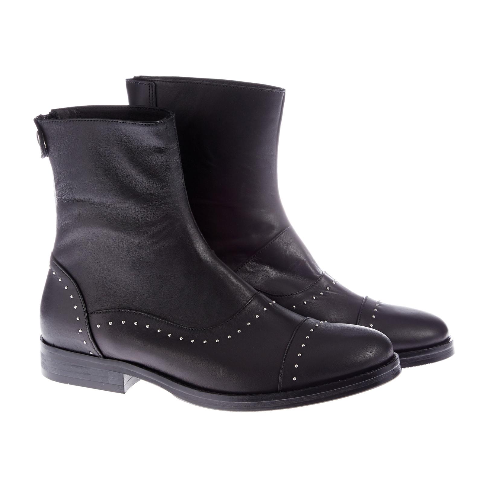 Mentor Bag Zip Boot med små nitter