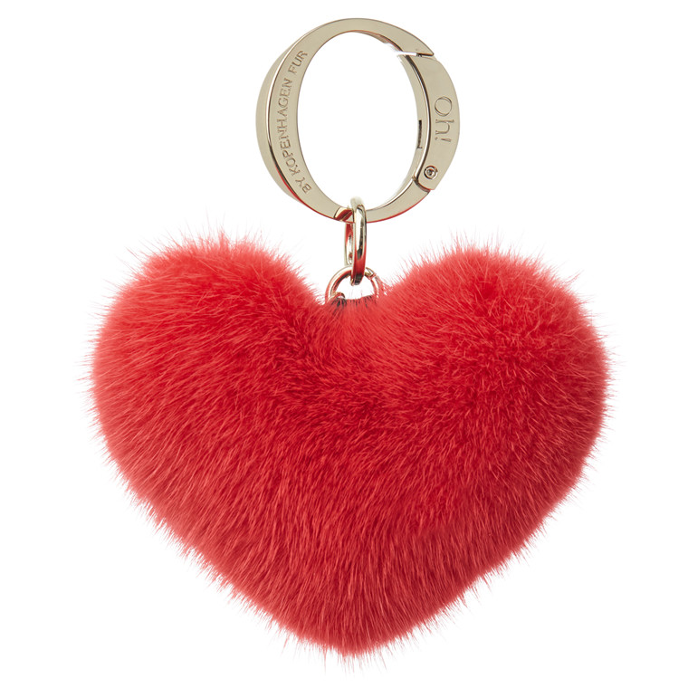 Oh! By Kopenhagen Fur Ally Heart mink vedhæng