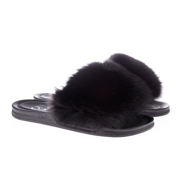Oh! By Kopenhagen Fur Foxy Fox slippers m/ræv