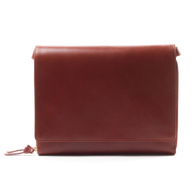 Royal RepubliQ RAF skindhåndtaske med klap med plads til iPad