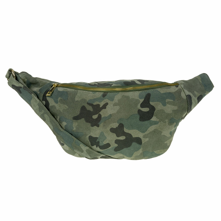 Depeche Bum Bag Suede med Camouflage print