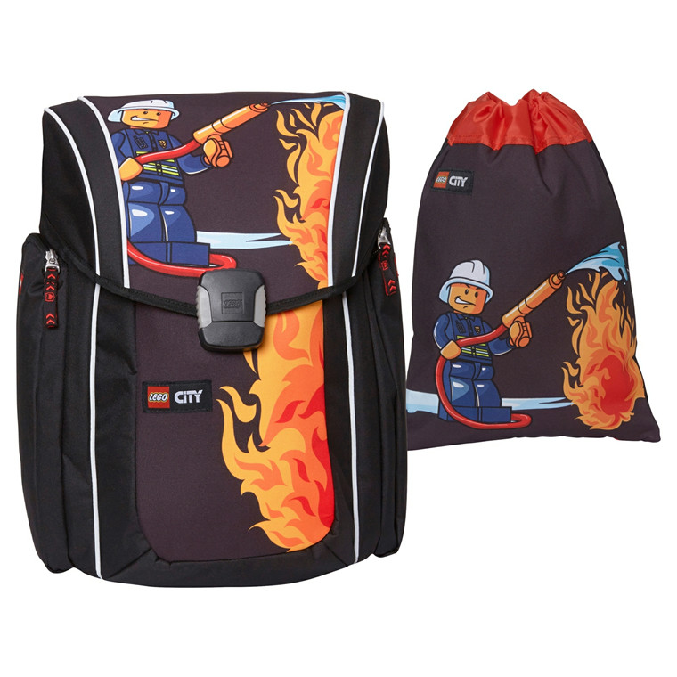 Lego City Fire Xtreme skoletaske