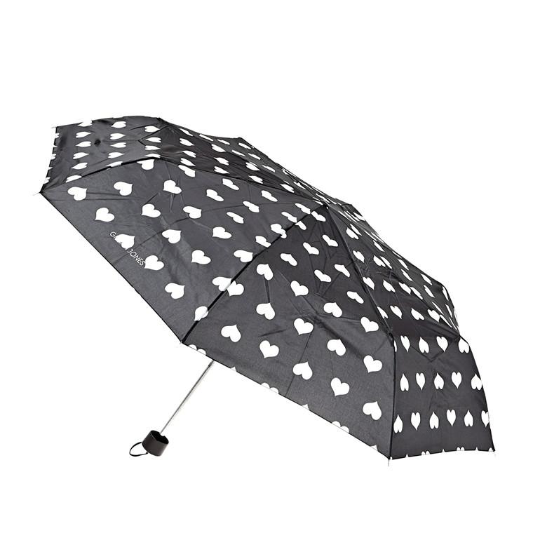 Cimi kort paraply med hjerter