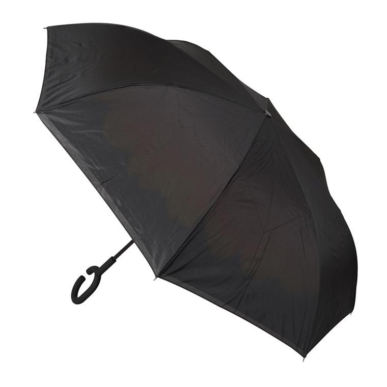 Lang automatisk paraply med indvendigt print