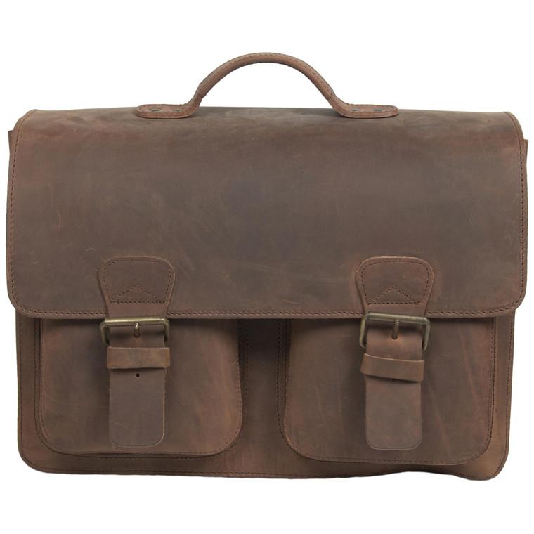 Ruitertassen skoletaske i støvlelæder