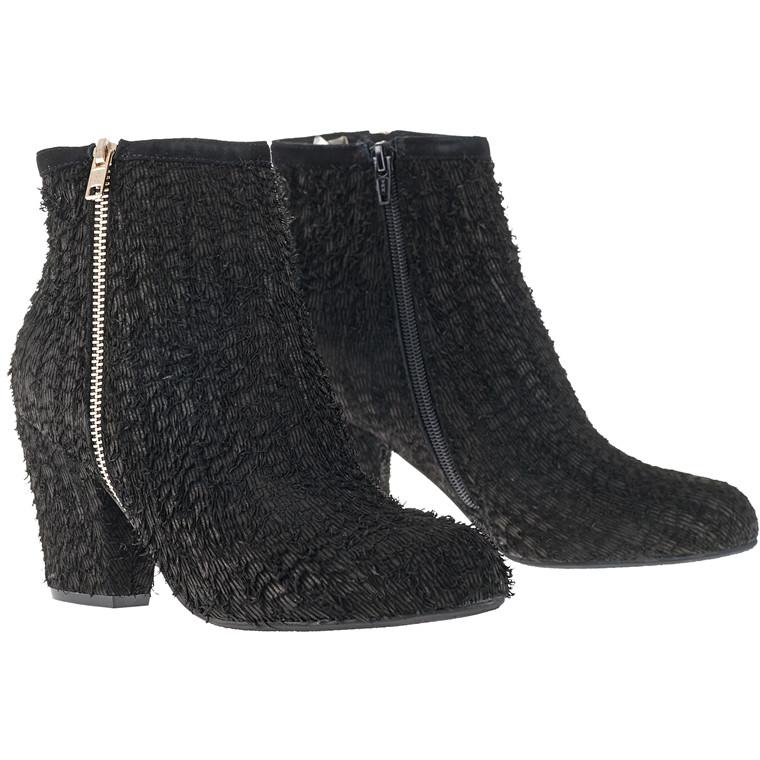 Sofie Schnoor High Heel boot med skindflosser