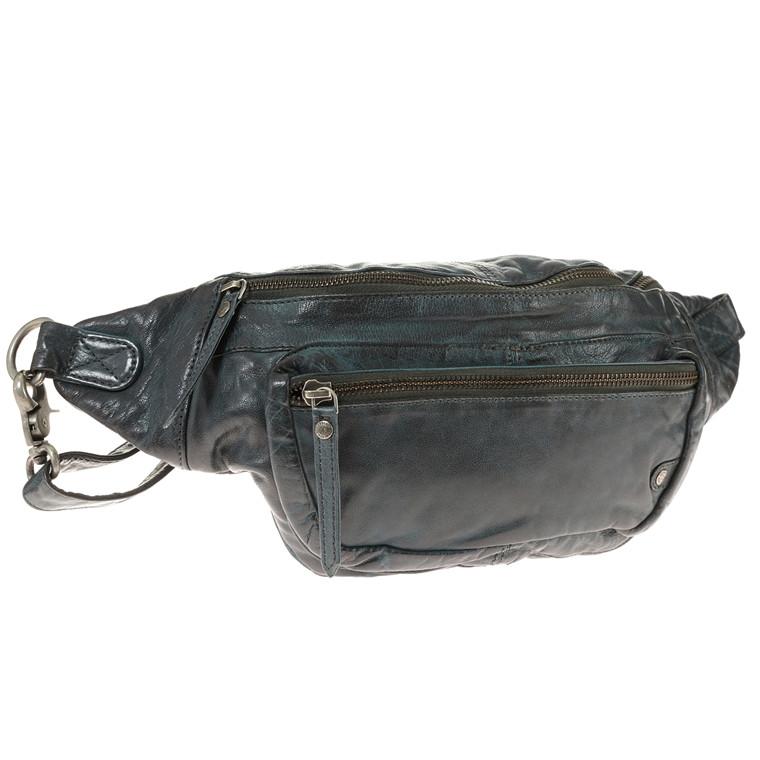 Depeche Bum bag bæltetaske i skind med lynlås