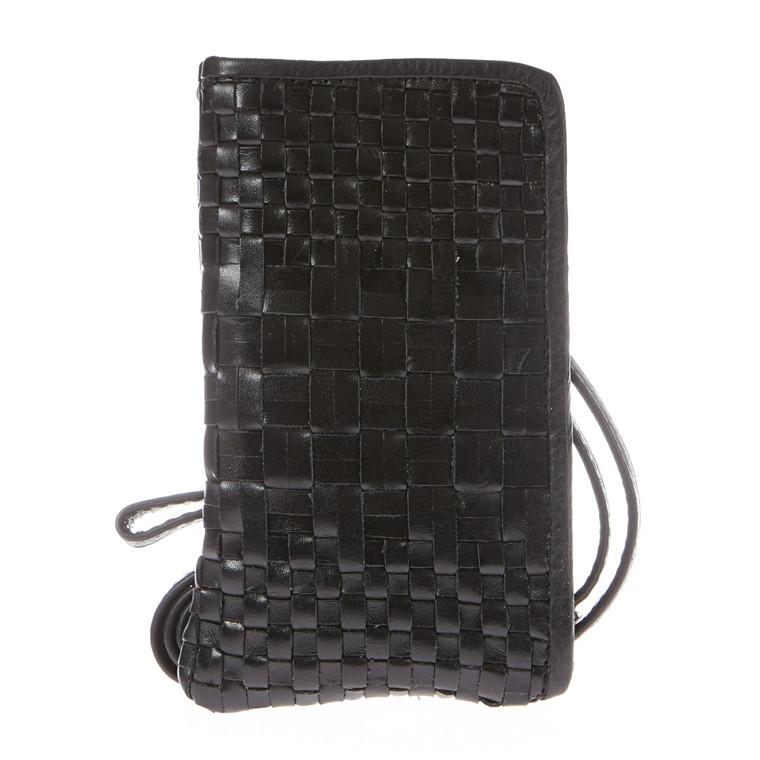Depeche mobiltaske i skind m/flet