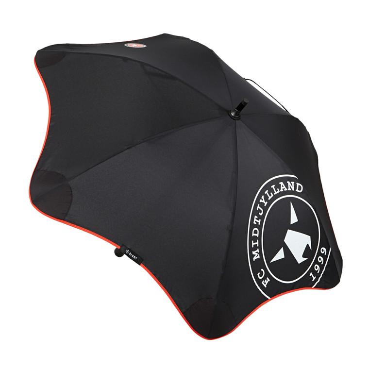 Blunt lille lang paraply med skulderrem