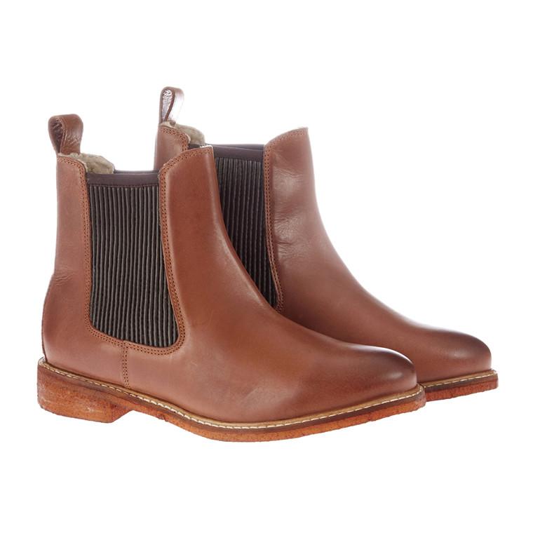 RE:Designed støvlet med bund i rågummi