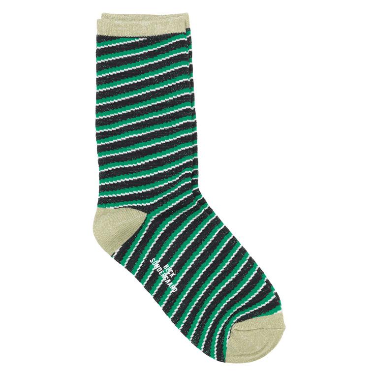 Becksöndergaard Duca Stripes strømpe med højt skaft