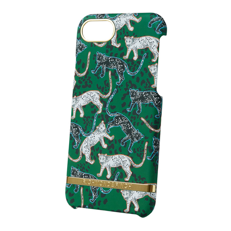 Richmond & Finch Green Leopard cover med gummikant
