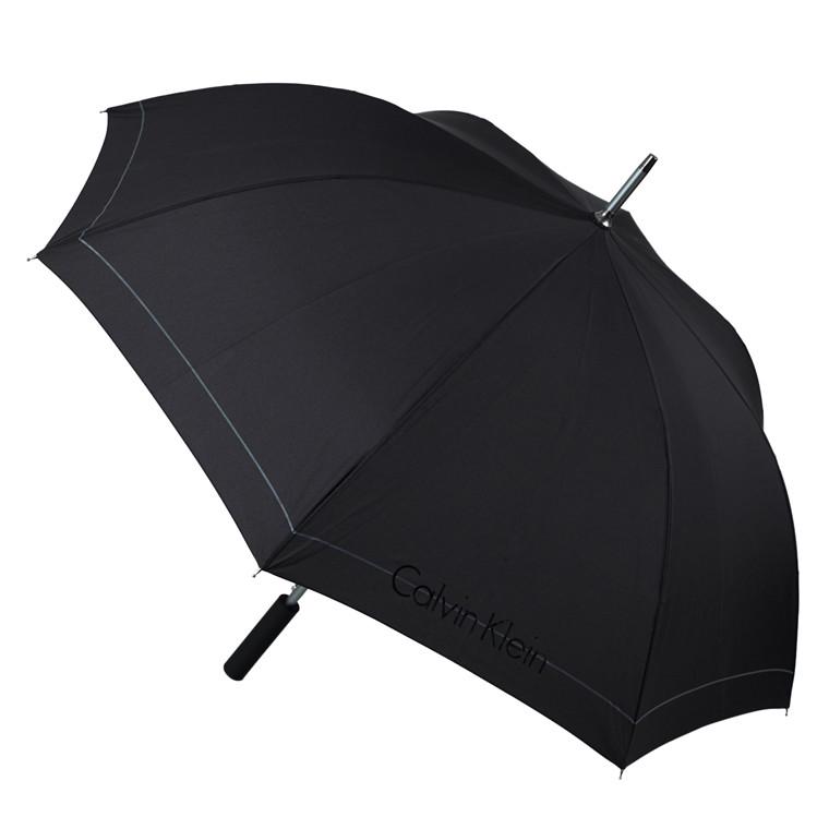 Calvin Klein CK klassisk paraply med lige greb