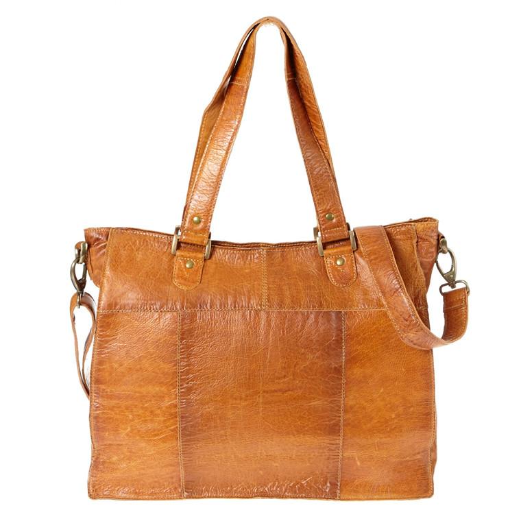 Dixie A4 skind slingbag med lynlås