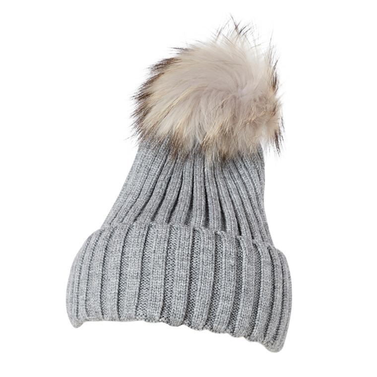 RE:Designed Rae strikhue med kvast af vaskebjørn