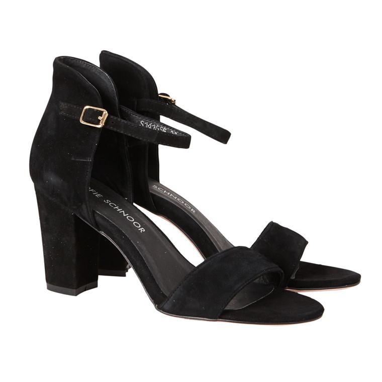 Sofie Schnoor sandal i Ruskind med høj hæl
