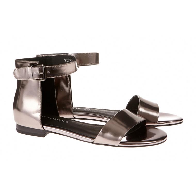Sofie Schnoor flad skind sandal med ankelrem