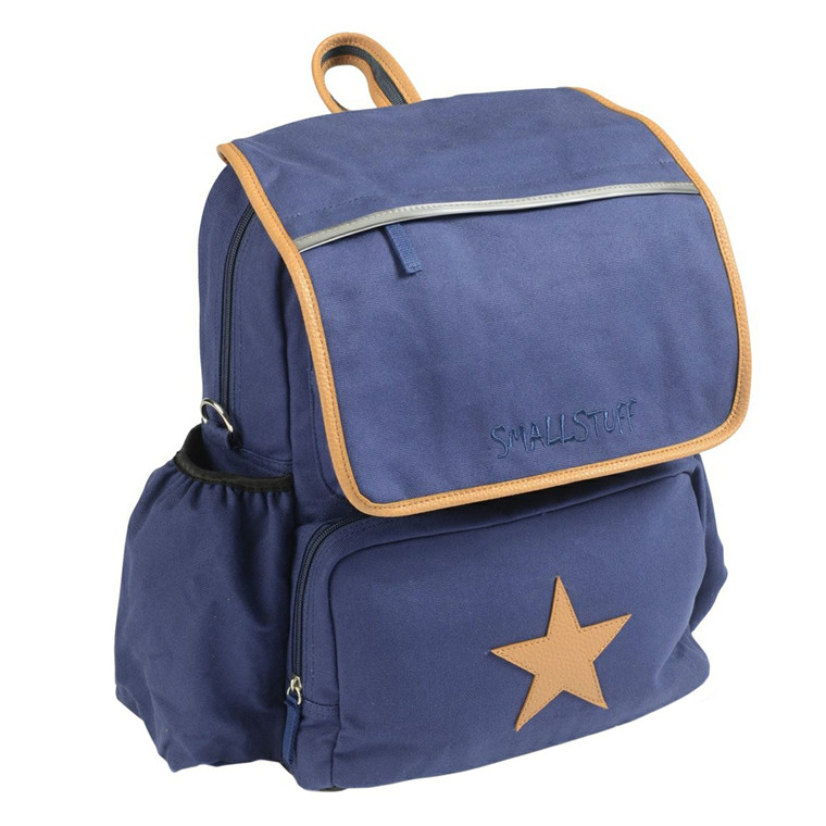 Smallstuff skoletaske m/gympose og læderstjerne