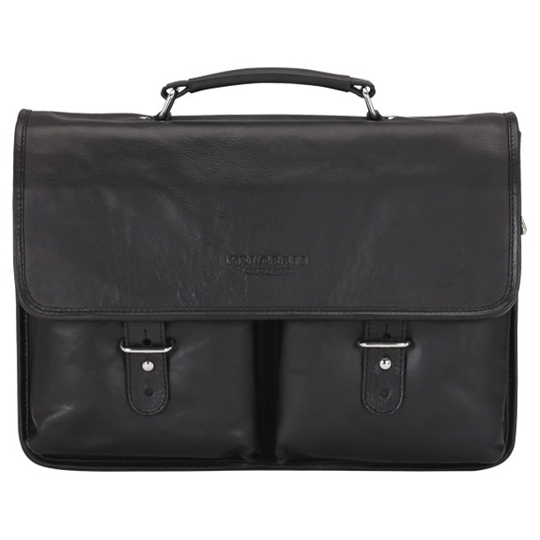 Velorbis School Bag skindmappe med to forlommer