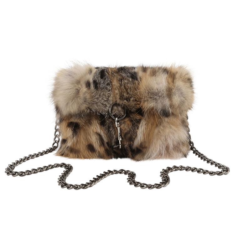 Cosy Concept Selma leopardtaske i rævepels