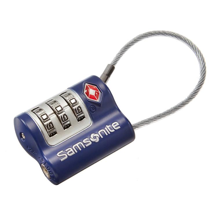 Samsonite hængelås m/kabel