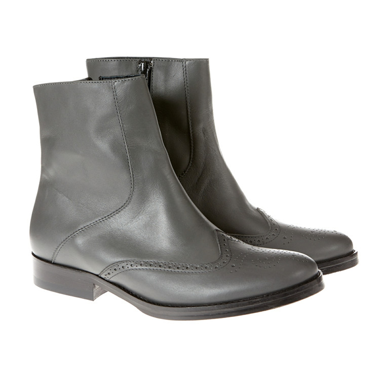 Mentor Zip støvle m/syninger